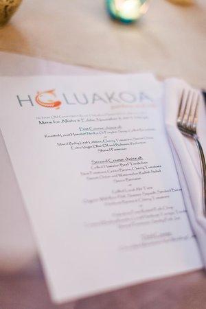 Holuakoa Cafe & Gardens : My Wedding Dinner Menu (Karen Loudon Photography)