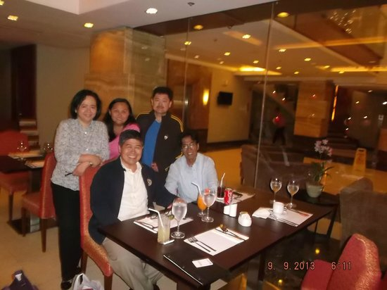 Armada Hotel Manila : entertaining friends  at the dinning room late at night
