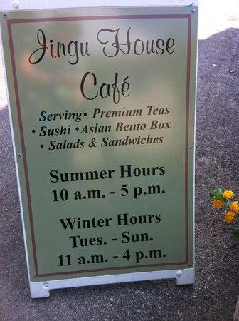 Japanese Tea Gardens: Tea House Hours
