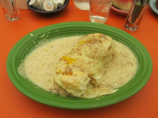 The Village Cafe: biscuits and gravy