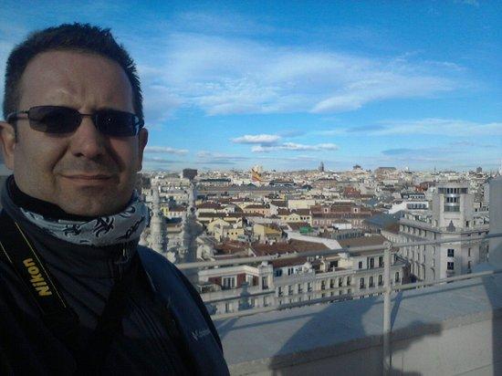 Palacio de Cibeles : Un mirador fantástico en la terraza.