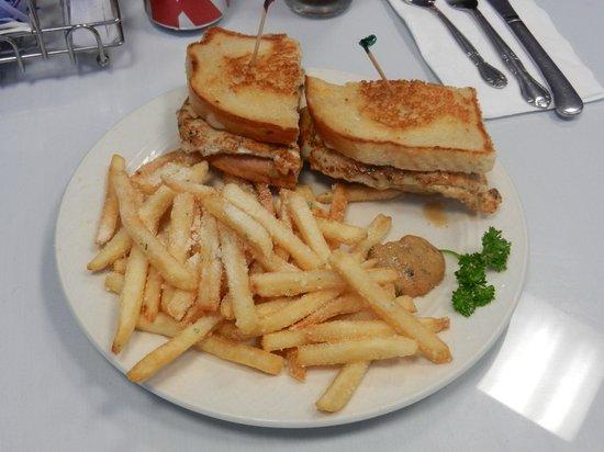 Cafe San Jose : Swiss Chicken Avocado - With Garlic Fries