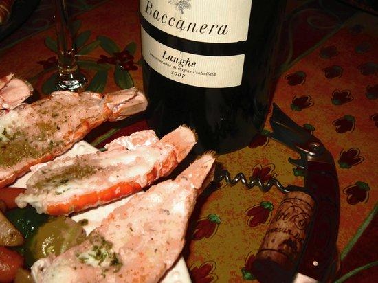 Restaurant Baffetto De Roma: Langhe et Scampi