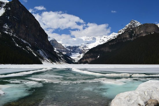 Paradise Lodge & Bungalows: Lake Louise early June