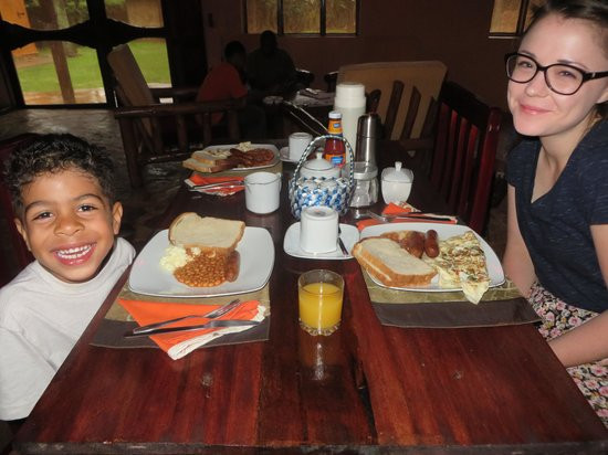 Secrets Guest House: Our first meal in Uganda