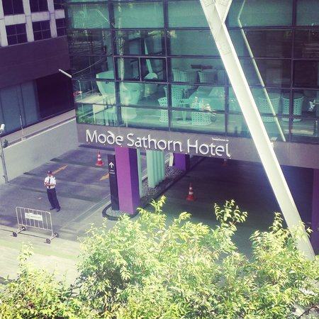 Mode Sathorn Hotel: off the train platform and its right there