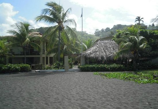 Sandpiper Hotel: View from the black sand beach