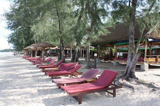 Papa Pippo Bar, Restaurant & Bungalows : The beach beds, right along the ocean front