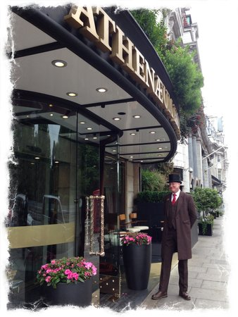 The Athenaeum Hotel & Residences: He likes to pose for photo