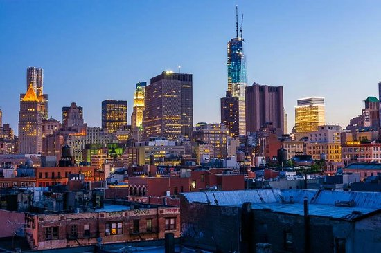 The Nolitan Hotel: The view to the south of One WTC and the financial district from the rooftop