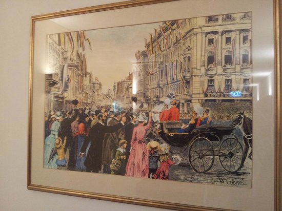Kummer Hotel: Old painting of the hotel