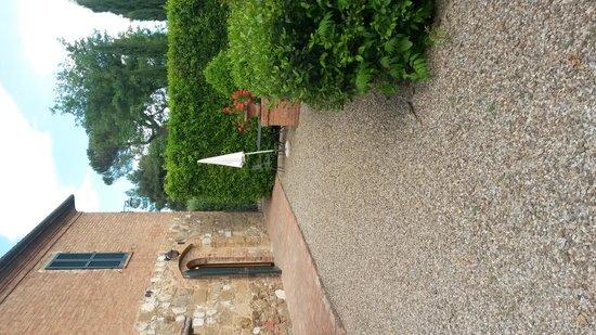 Villa Nottola : l'ingresso della stanza