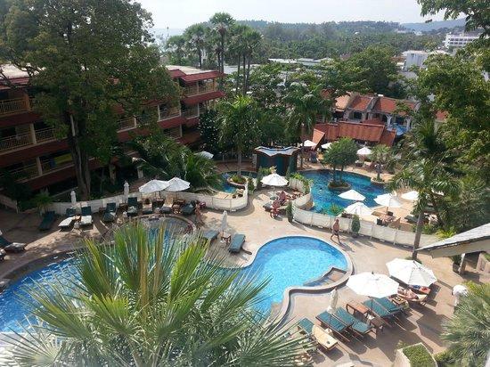 Chanalai Flora Resort : вид из номера (3й этаж)