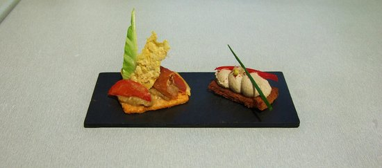 Bodega Koko : Sablé parmesan - caviar d'aubergine - tartine rillettes sardine fraîche