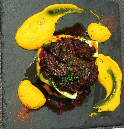 Bodega Koko : Boudin chou rouge façon du chef - purée carotte aux 4 épices