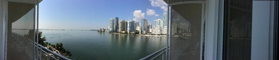 Mandarin Oriental, Miami: Panoramic view from the Deluxe Bay View Room
