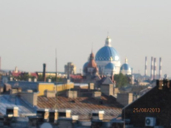 Petro Palace Hotel: View of Petersburg from our room.