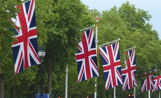 The Mall: Union Jack flags