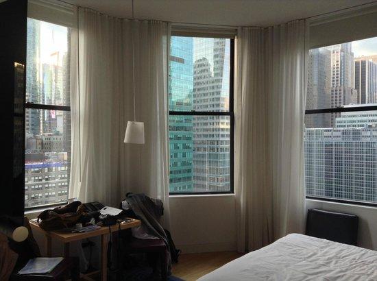 The Bryant Park Hotel: La chambre en angle