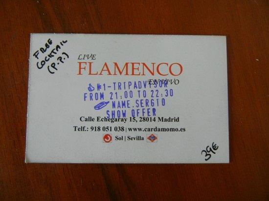 Cardamomo Tablao Flamenco : Визитка