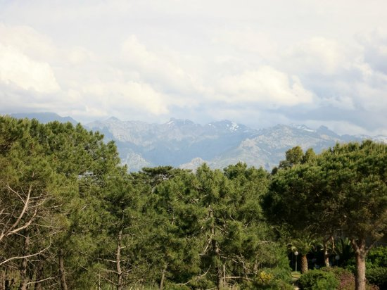 Calvi Hotel: Mountain view from room 216