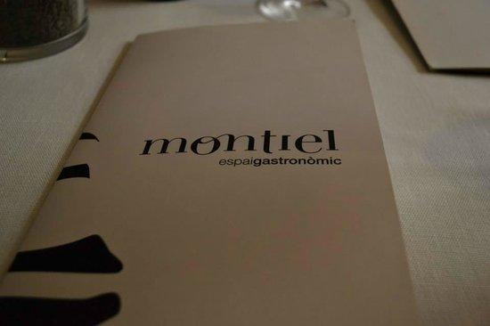 Restaurant Montiel: Menu Cover