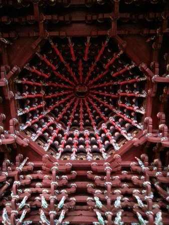 Anxi County, China: ceiling artwork-anxi confucius temple