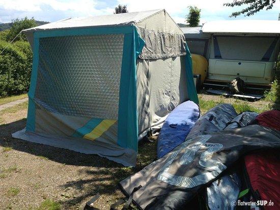 Flatwater SUP: Aufbau des SUP Camps