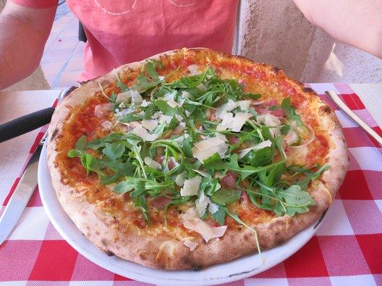 A Punta's signature pizza