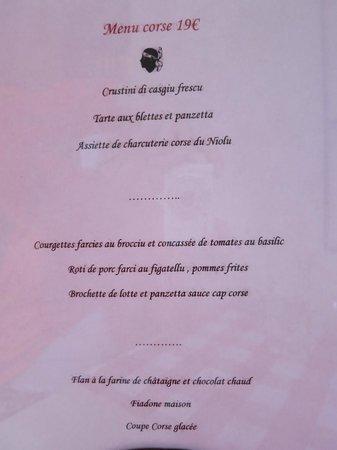 A Punta : Set menu - great value with vegetarian options