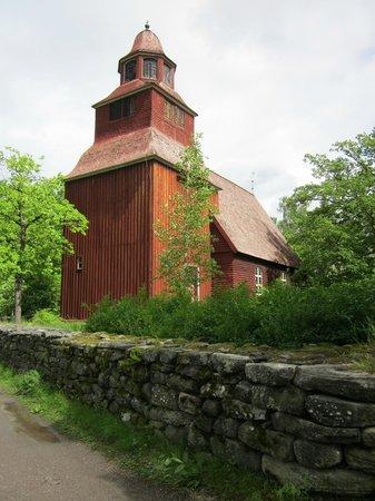 Freilichtmuseum Skansen: alte Kirche