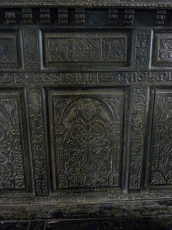 Doune Castle: Detail of the woodwork