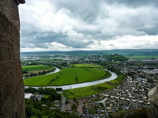 National Wallace Monument: View towards Stirling Castle, from the top