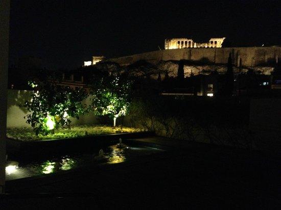 Herodion Hotel: Вид на Акрополь с крыши отеля