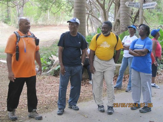 Eco Adventures Barbados - Day Tours : Victor Cooke Making a point.
