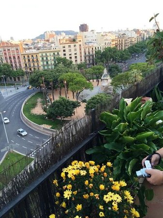 Marta's Private Paella Cooking Classes: Lovin the View from Marta's Balcony!