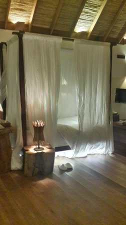 Île privée de Song Saa : My luxurious bed which I miss very much !