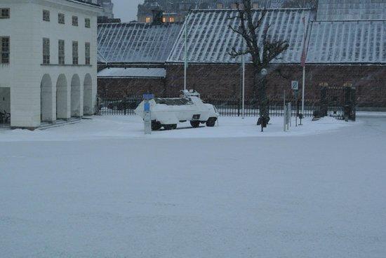 Army Museum: Armémuseum - mimetizzazione nella neve