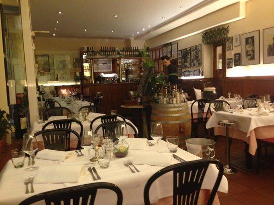Fellini: Der Inneraum des kleinen, aber feinen Restaurants