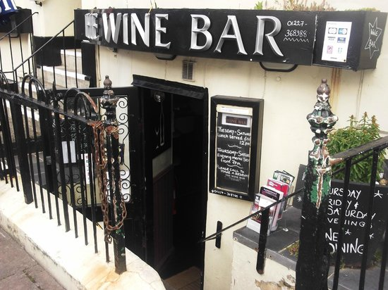 Entrance to THE WINE BAR.