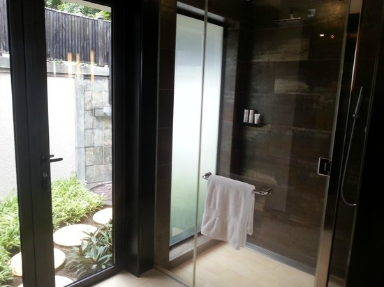 LUX* Belle Mare: bathroom and outdoor shower