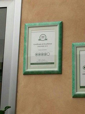 Trattoria da Santoni: Certificato di eccellenza TripAdvisor