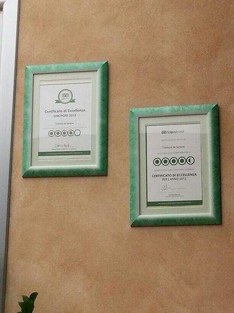 Trattoria da Santoni: Certificati TripAdvisor