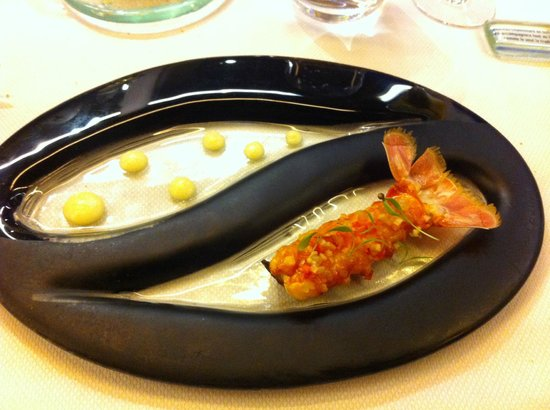 Restaurant Yoann Conte : Langoustine
