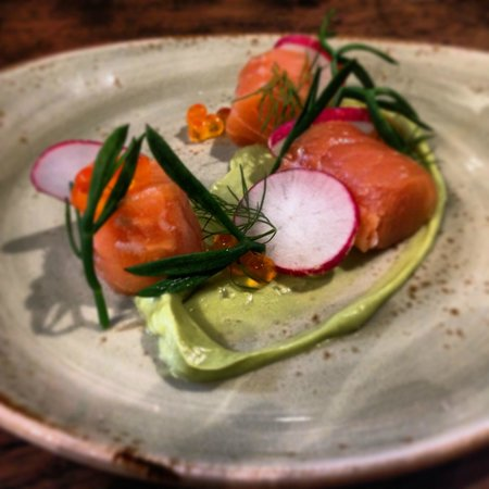 Old Downton Lodge: Salmon and Rock Samphire