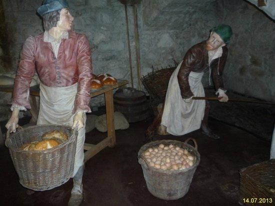Stirling Castle: Экспозиция средневековой кухни