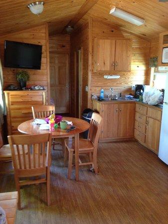 Mystic KOA: Inside the deluxe cabin