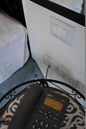 Nimman Mai Design Hotel by Compass Hospitality: Power sockets at all practical locations in room