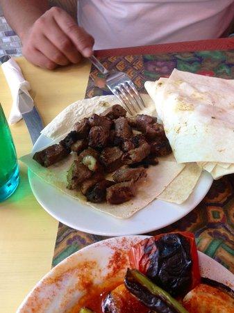 Big Family Kebap: Lamb liver and beef kebab