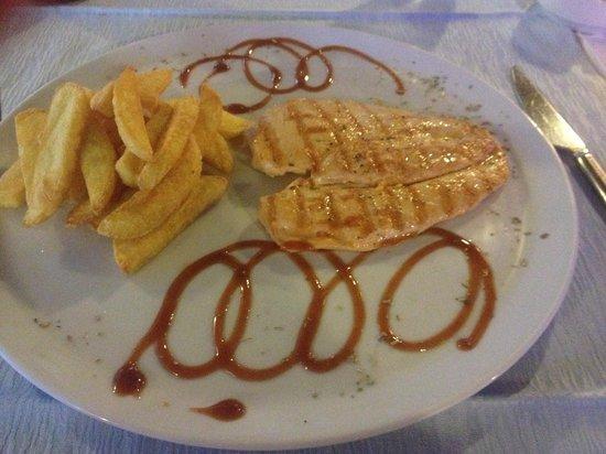 Blanca Restaurant: Grilled Chicken & Chips